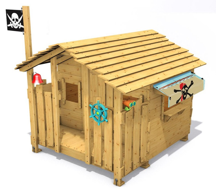 Dětský domeček Monkey´s Home Chatrč pirát Rat Pub