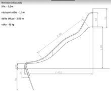 SKLUZAVKA Monkey´s nerez. pro výšku konstrukce 1,5 m