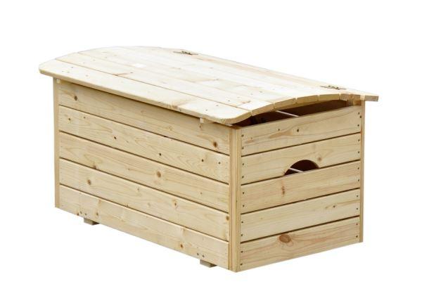 Dřevěná truhla na hračky