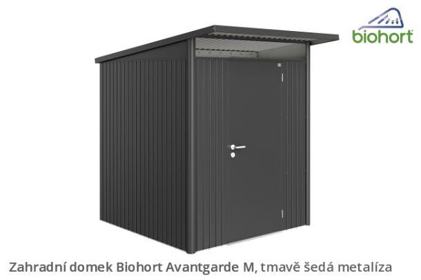 Biohort Zahradní domek AVANTGARDE A3, tmavě šedá metalíza