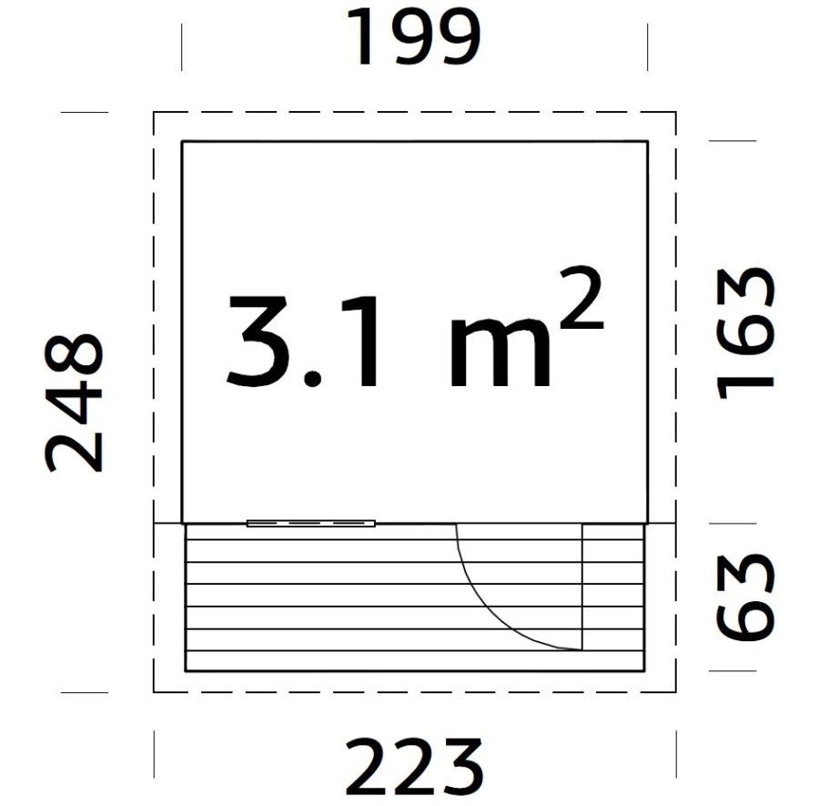 Dětský domek AKSEL  (199cm x 163 / 223cm) tl.  16mm