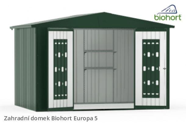 Biohort Zahradní domek EUROPA 5, tmavě zelená