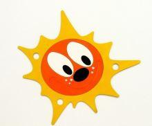 Dekorace dřevěná Sluníčko 400x430