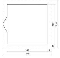Domek na nářadí EKO-LINE H343