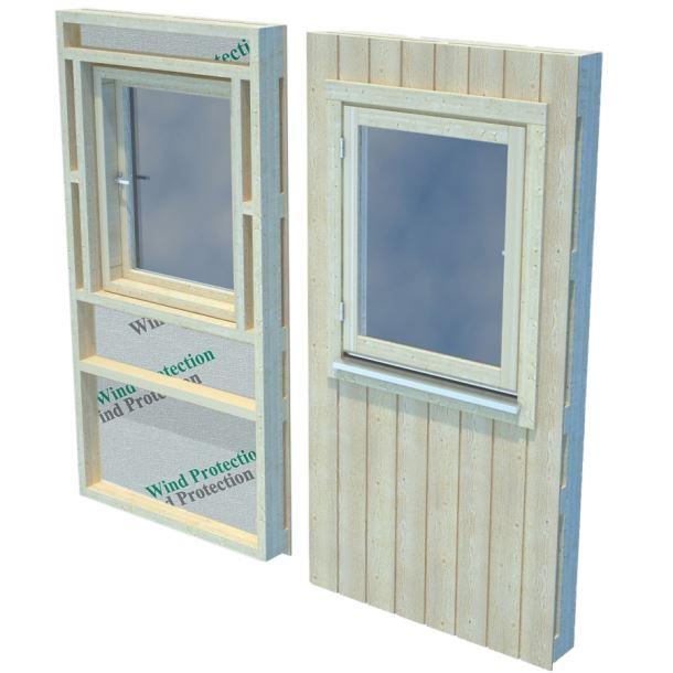 Panel s oknem pro Nordic+ střední okno