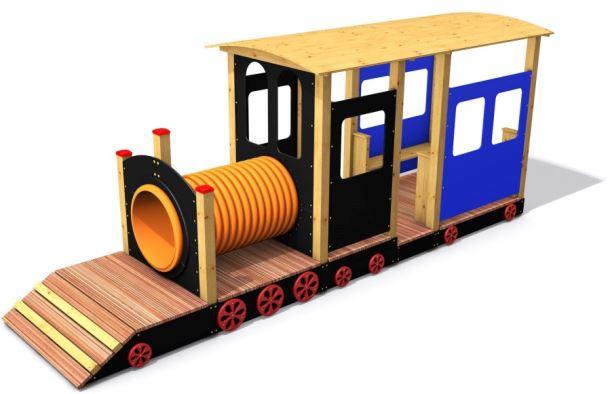 Monkeys Vláček s vagonem a prolézacím tunelem