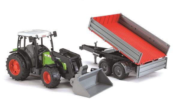 BRUDER - Traktor Claas Nectis + čelní nakladač+sklápěcí vůz
