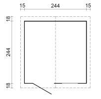 Zahradní domek EKO-LINE Makro-2 5,8 m2