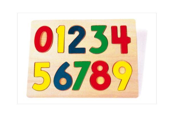 Puzzle dřevěné čísla