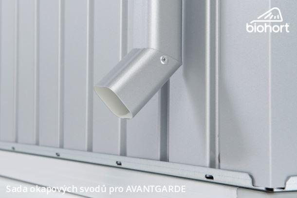 Biohort Sada okapových svodů pro AVANTGARDE, stříbrná metalíza, 2 kusy