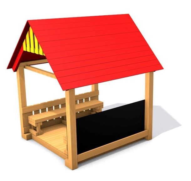 Dětský altánek Monkey's Sunny House - půl tabule