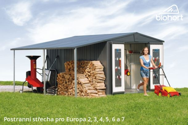 Biohort Postranní střecha pro EUROPA 2, 3, 4A, tmavě šedá metalíza