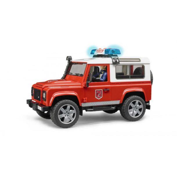 BRUDER-Hasičské auto Land Rover s figurkou