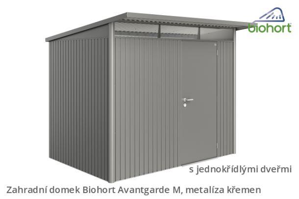 Biohort Zahradní domek AVANTGARDE A5, šedý křemen metalíza