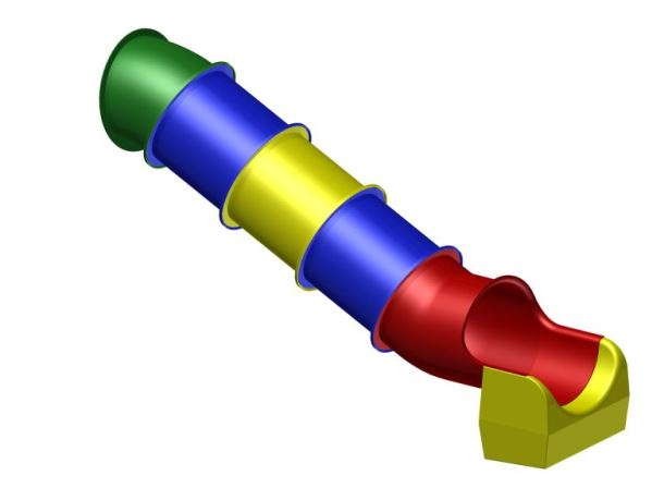 Tobogán rovný 384 cm