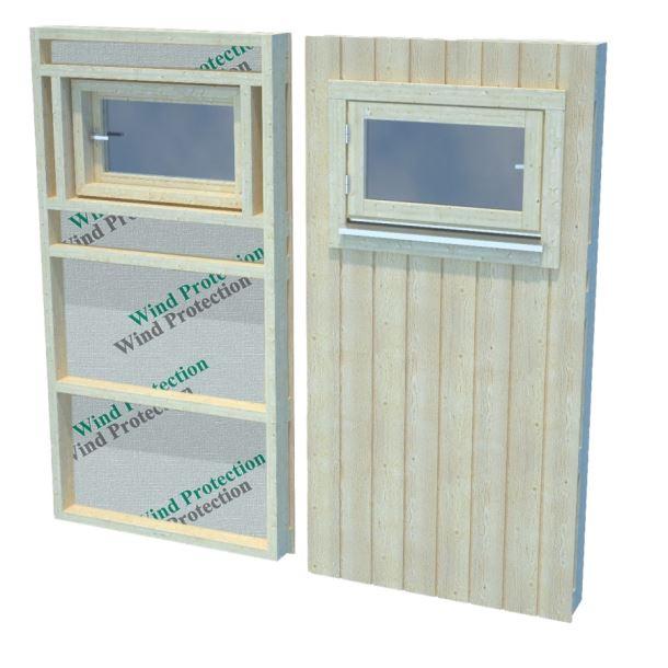 Panel s oknem pro Nordic+ malé okno