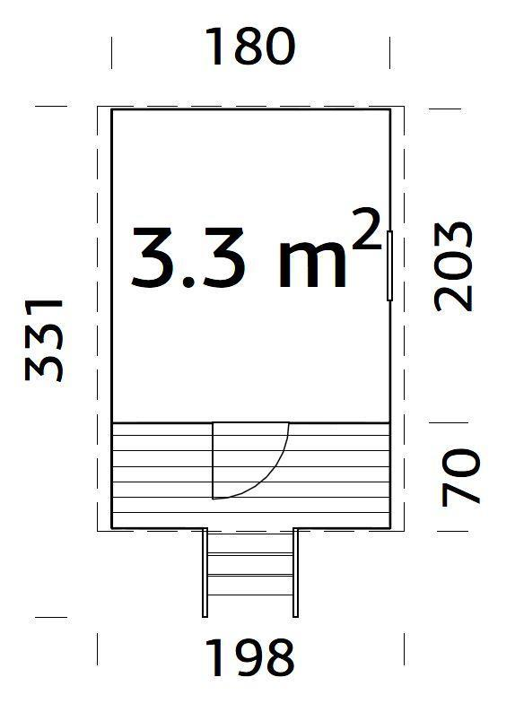 Dětský domek HUCK  (180 x 271 cm) tl.  16mm