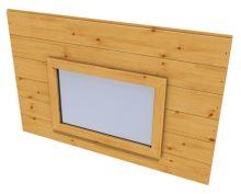 Panel s oknem navíc pro zahradní domek HEROLD