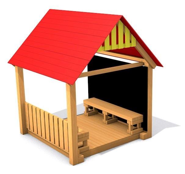 Dětský altánek Monkey's Sunny House - celá tabule