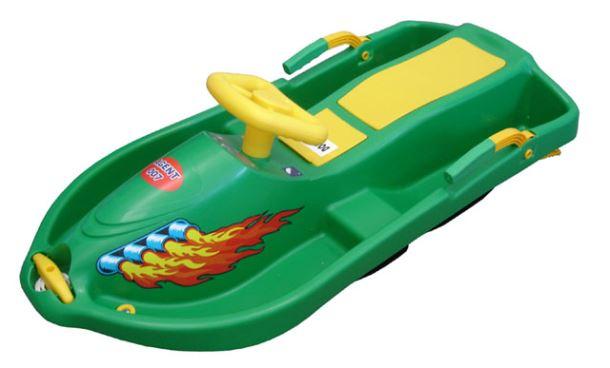 Acra Snow Boat řiditelný bob A2035 - zelený
