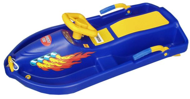 Acra Snow Boat řiditelný bob A2035 - modrý