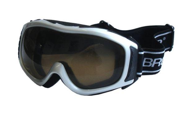 BROTHER B255-S lyžařské brýle - stříbrné
