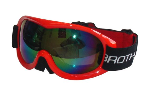 BROTHER B259-CRV Lyžařské brýle s dvojsklem,červené
