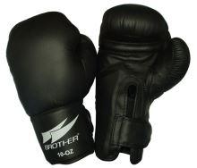 ACRA BR10 Boxerské kožené rukavice vel. M - 10 oz. - Červené