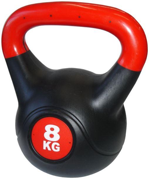 ACRA Činka kettlebell s cementovou náplní - 8 kg