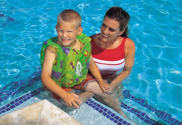 Plavecká vesta s límcem Bestway
